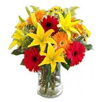 Best Rakhi Gifts for Brother Lily Gerbera Bouquet with Rakhi in India