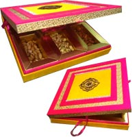 1 Kg Dry Fruits Delivery jammu in Box of MDF. Send Rakhi Gifts to India