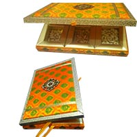Rakhi Gifts Delivery in India in Box of MDF 2 Kg