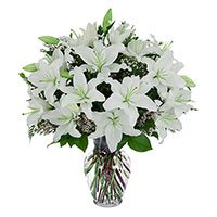 Rakhi to India with White Lily Flowers