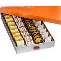 Rakhi Gifts Delivery in Goa. 500 gm Assorted Kaju Sweets to India